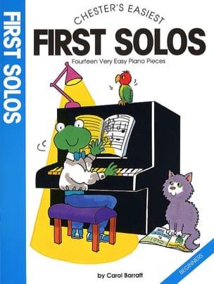 First Solos Carol Barratt Partition Piano - laflutedepan