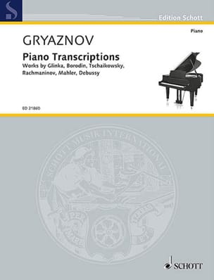 Piano transcriptions Vyacheslav Gryaznov Partition laflutedepan