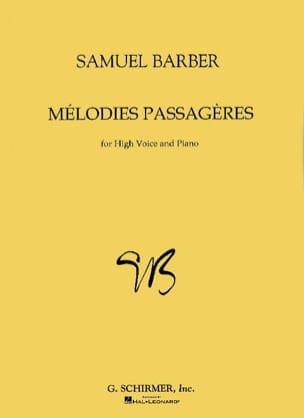 Mélodies Passagères Opus 27. Voix Haute BARBER Partition laflutedepan