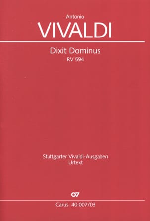 Dixit Dominus RV 594 VIVALDI Partition Chœur - laflutedepan