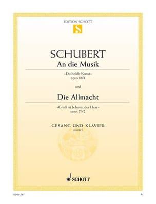SCHUBERT - Un Die Musik, Opus 88-4 / Die Allmacht, Opus 79-2 - Partition - di-arezzo.es
