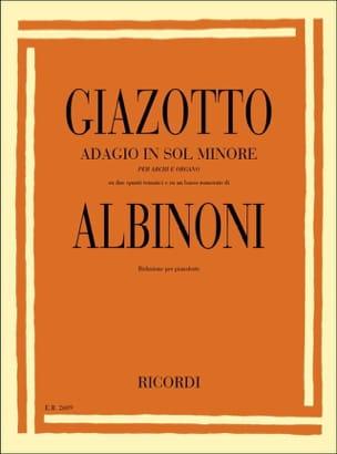 Adagio. Piano ALBINONI Partition Piano - laflutedepan