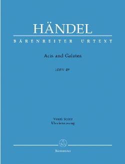 Acis And Galatea. HWV 49a 1ère version HAENDEL Partition laflutedepan