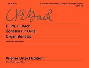 Sonaten Für Orgel Carl-Philipp Emanuel Bach Partition laflutedepan