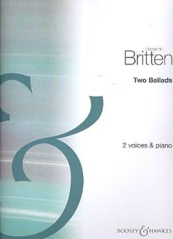 2 Ballads BRITTEN Partition Duos - laflutedepan