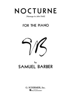 Nocturne Op. 33 BARBER Partition Piano - laflutedepan