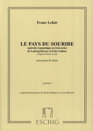 Le Pays Du Sourire LEHAR Partition Opéras - laflutedepan