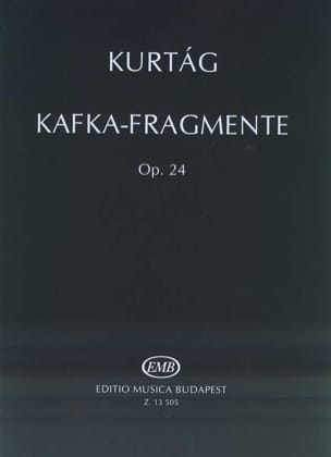 Kafka-Fragmente Opus 24 KURTAG Partition Violon - laflutedepan