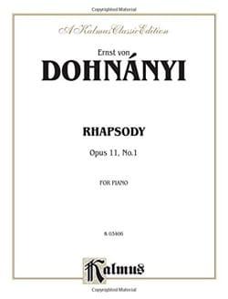 Rhapsodie Op. 11-1 DONHANYI Partition Piano - laflutedepan