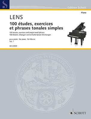 Nicholas Lens - 100 studies, exercises and simple tonal phrases. Volume 1 - Partition - di-arezzo.com