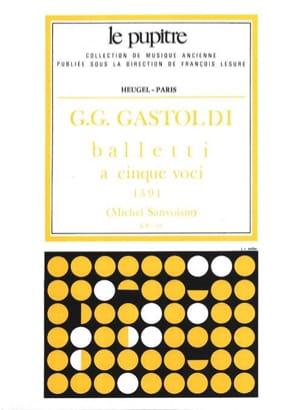 Balletti A 5 Voci Giovanni Gastoldi Partition Chœur - laflutedepan