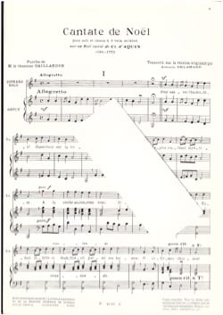 Cantate de Noël Louis-Claude Daquin Partition Chœur - laflutedepan