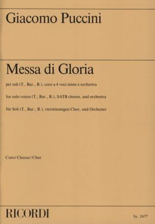 Missa Di Gloria. Choeur PUCCINI Partition Chœur - laflutedepan