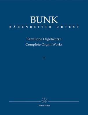 Sämtliche Orgelwerke Volume 1 Gerard Bunk Partition laflutedepan