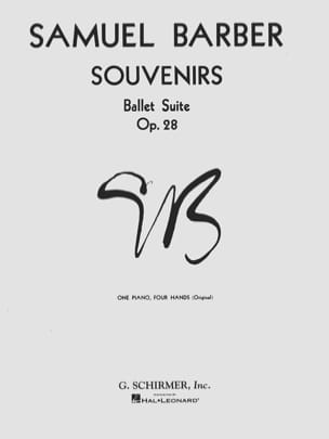 Souvenirs Opus 28. 4 Mains BARBER Partition Piano - laflutedepan