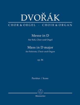DVORAK - Mass in D major - Partition - di-arezzo.co.uk