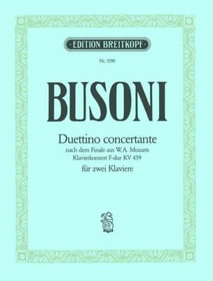 Duettino Concertante 2 Pianos BUSONI Partition Piano - laflutedepan