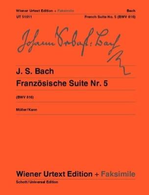 Suite Française n°5 + fac-similé BACH Partition Piano - laflutedepan