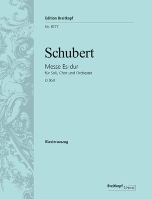 SCHUBERT - Masa en mi bemol mayor D 950 - Partition - di-arezzo.es
