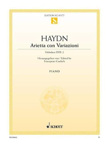 Arietta con Variazioni Hob. XVII: 2 - HAYDN - laflutedepan.com