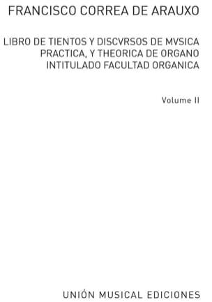 Libro de Tientos Volume 2 de Arauxo Francisco Correa laflutedepan