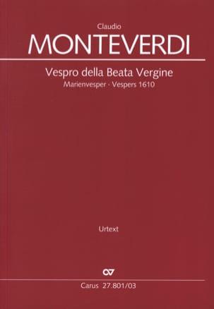 Vespro della Beata vergine MONTEVERDI Partition Chœur - laflutedepan
