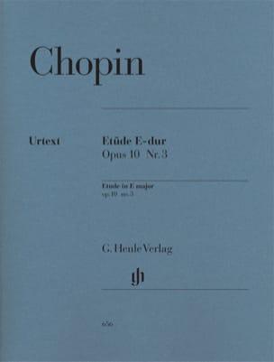 Etude Mi Majeur Opus 10-3 CHOPIN Partition Piano - laflutedepan