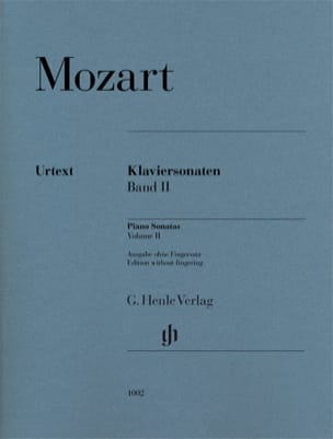 Sonates pour piano Volume 2 MOZART Partition Piano - laflutedepan