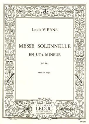 Messe Solennelle en Ut dièse Mineur Opus 16 VIERNE laflutedepan