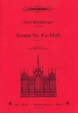 Sonate N° 8 Opus 132 RHEINBERGER Partition Orgue - laflutedepan
