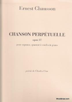 Chanson Perpétuelle Opus 37 CHAUSSON Partition laflutedepan