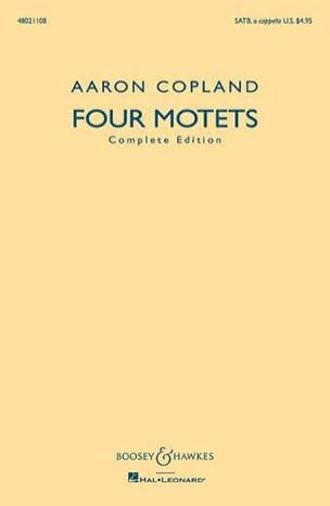4 Motets Choeur Mixte SATB COPLAND Partition Chœur - laflutedepan