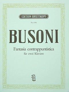 Fantasia Contrappuntistica. 2 Pianos. Bus-Ver 256b BUSONI laflutedepan