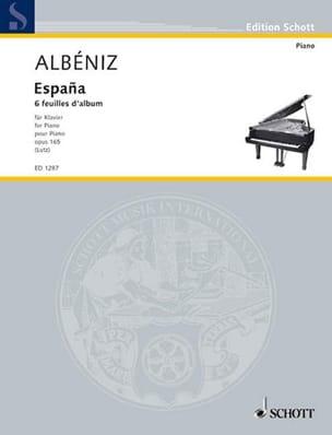 España Opus 165 ALBENIZ Partition Piano - laflutedepan