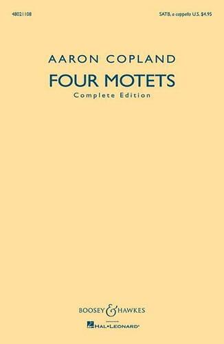 4 Motets Choeur Mixte SATB - COPLAND - Partition - laflutedepan.com