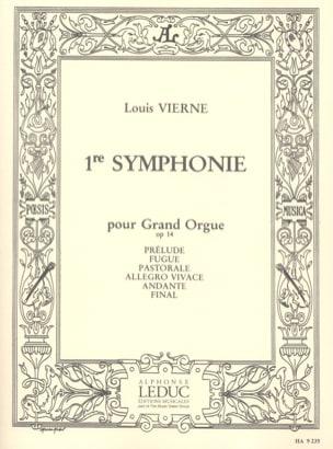 Symphonie N°1 Opus 14 VIERNE Partition Orgue - laflutedepan