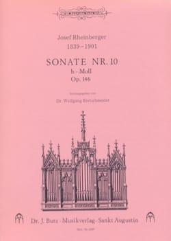 Sonate N° 10 Op. 146 RHEINBERGER Partition Orgue - laflutedepan