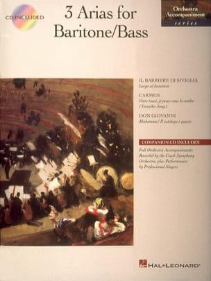 3 Arias For Baritone/Bass - Partition - Opéras - laflutedepan.com