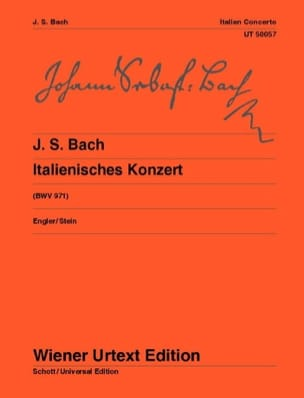 Concerto Italien - BWV 971 BACH Partition Piano - laflutedepan