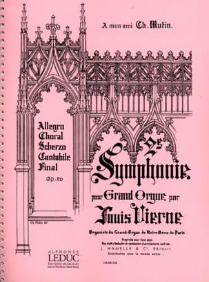 Symphonie N°2 Opus 20 VIERNE Partition Orgue - laflutedepan