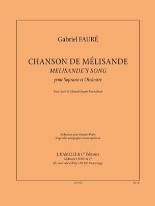 Chanson de Mélisande FAURÉ Partition Mélodies - laflutedepan
