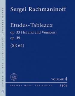 Etudes-tableaux SR 64 RACHMANINOV Partition Piano - laflutedepan
