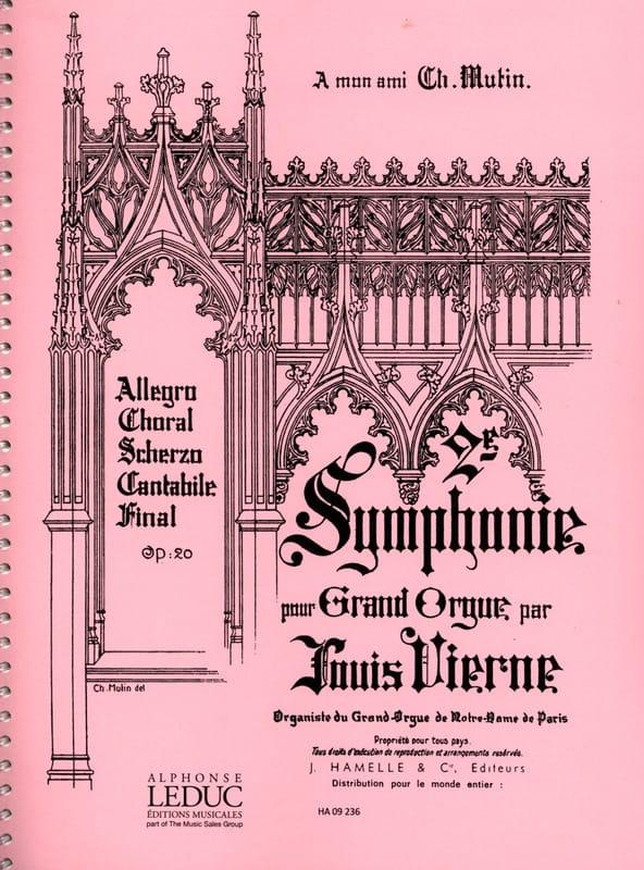 Symphonie N°2 Opus 20 - VIERNE - Partition - Orgue - laflutedepan.com