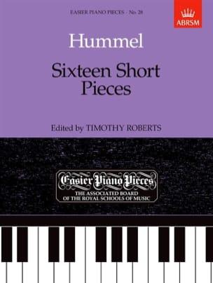 16 short pieces HUMMEL Partition Piano - laflutedepan