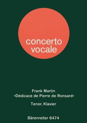Dédicace de Pierre de Ronsard 1945. Frank Martin laflutedepan