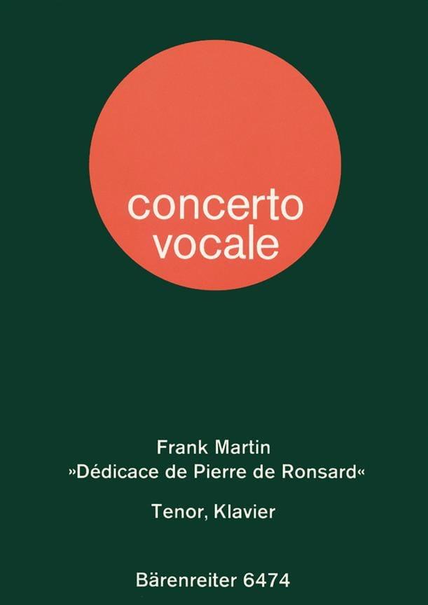 Dédicace de Pierre de Ronsard 1945. - Frank Martin - laflutedepan.com