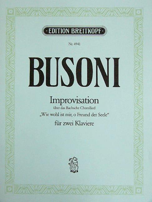 Improvisation sur 1 Choral de Bach BWV 517. 2 Pianos - laflutedepan.com