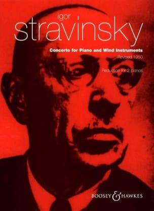 Igor Stravinski - Piano Concerto and Wind Instruments. 2 Pianos - Partition - di-arezzo.com