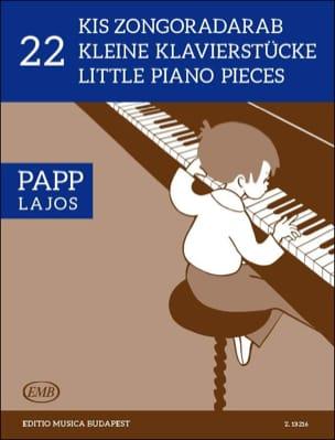 22 Little Pieces Lajos Papp Partition Piano - laflutedepan