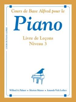Piano - Livre de Leçons Niveau 3 ALFRED Partition Piano - laflutedepan
